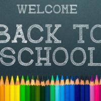 back to school. color pencils